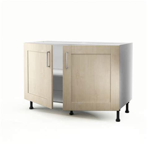 meuble cuisine sous evier 120 cm meuble de cuisine sous évier blanc 2 portes ines h 70 x l