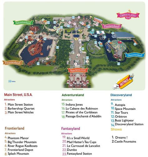 Disneyland Paris Karte