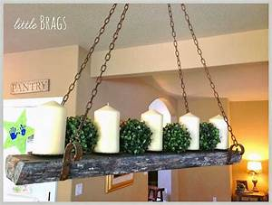 ♦Reclaimed wood candle chandelier♦