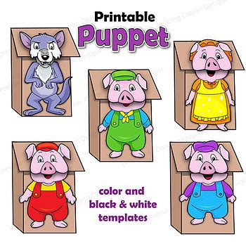 fairy tales craft activity printable paper bag puppets tpt