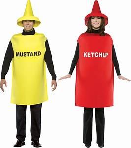 Déguisement Carnaval Original : d guisement couple moutarde et ketchup d guisement couple pas cher costume humoristique ~ Melissatoandfro.com Idées de Décoration