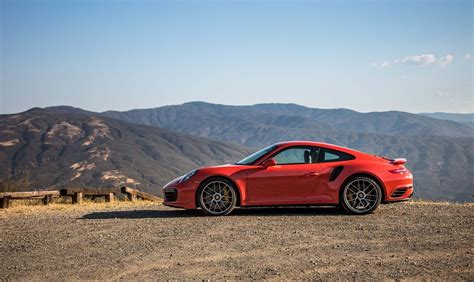 turbo porsche red red cars porsche 911 turbo s 2017 mountains car
