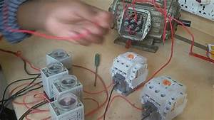 Three Phase Motor Connection By Auto Reverse Forward Starter