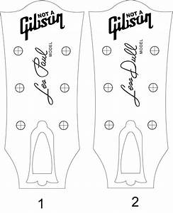 les paul headstock template pdf cerca con google With gibson les paul headstock template