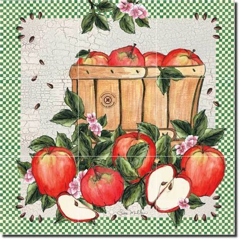 apple kitchen decor ebay mullen fruit apple decor kitchen ceramic tile mural ebay