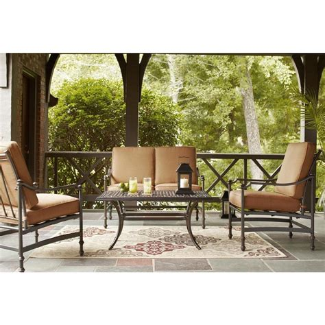 hton bay niles park 4 patio seating set with