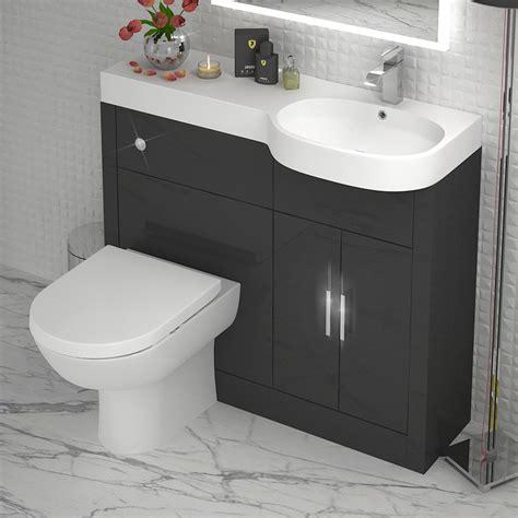 grey  vanity unit rh buy   bathroom city