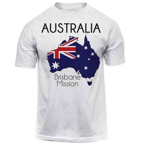 australia brisbane map mission tee shirt mens