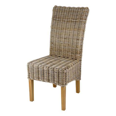 chaise en kubu tressé chaise en kubu tressé galette lot de 2 mooviin