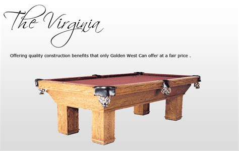 golden west pool table pool tables by california house gametablesetc com