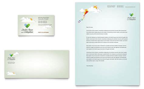 foster care adoption business card letterhead template