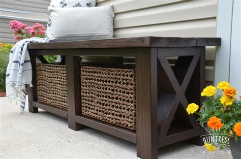 diy rustic  bench  shelf buildsomethingcom