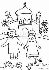 Mosque Drawing Cartoon Getdrawings sketch template