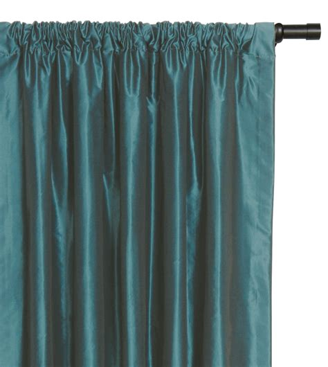 Taffeta Curtain by Luxury Bedding By Eastern Accents Freda Teal Curtain Panel