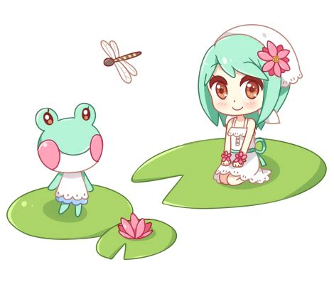 lily lily gijinka lily pads animal crossing fan art
