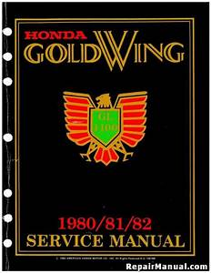 1980-1982 Honda Gl1100 Gold Wing Motorcycle Service Manual