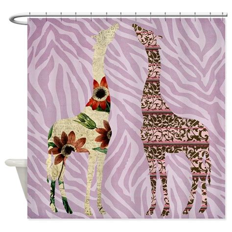 Zebra Print Bathroom Accessories Canada by Pink Zebra Print With Giraffes Shower Curtain By Be
