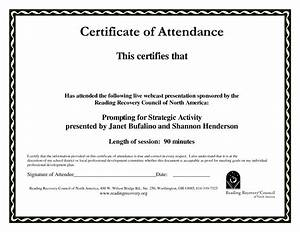 certificate of attendance templates blank certificates With conference certificate of attendance template