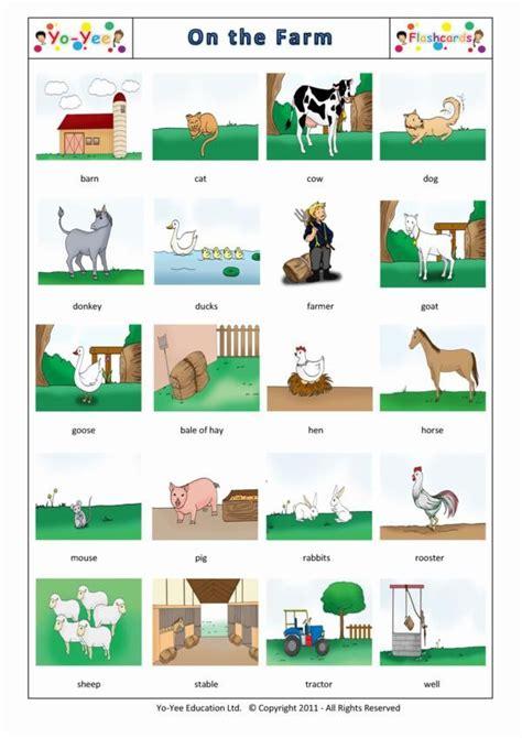 Farm Animal Flashcards For Kids  Vocabulary Cards