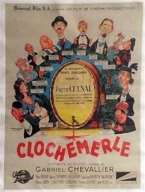 canapé banquette lit clochemerle affiche de cinéma originale de 1947 albert
