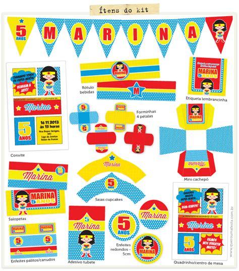 festa mulher maravilha quero uma festa kits para festas personalizadas