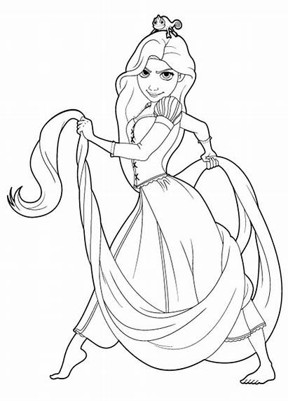 Tangled Coloring Pages Rapunzel Pascal Disney Printable