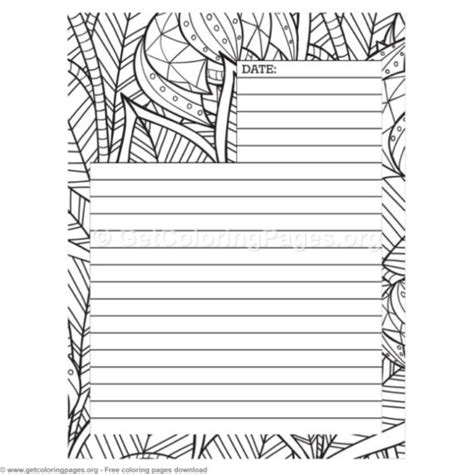 Coloring Journal by Printable Blank Journal Pages Getcoloringpages Org