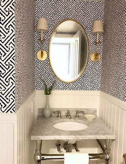 Powder Laundry Bathroom Trends Decorating Brass Lighting