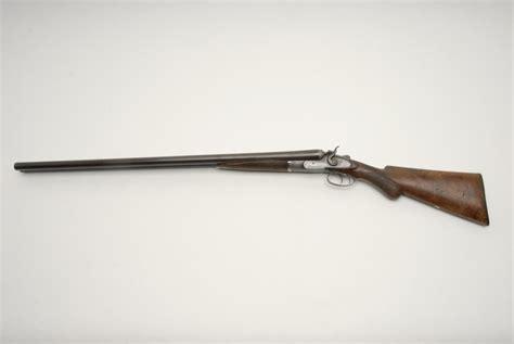 Double Barrel British Sxs Exposed Hammer Shotgun With