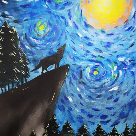 learn    wolf silhouette luminance painting