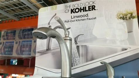 Costco! Kohler Linwood Pull Out Kitchen Faucet!