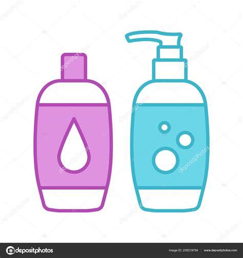 icono color shampoo bano espuma jabon gel ducha productos