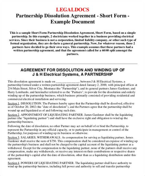 sample agreement forms  ms word