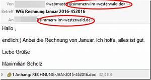 Inhalt Rechnung : vorsicht rechnung januar 2016 kommt mit virus von eigener ~ Themetempest.com Abrechnung