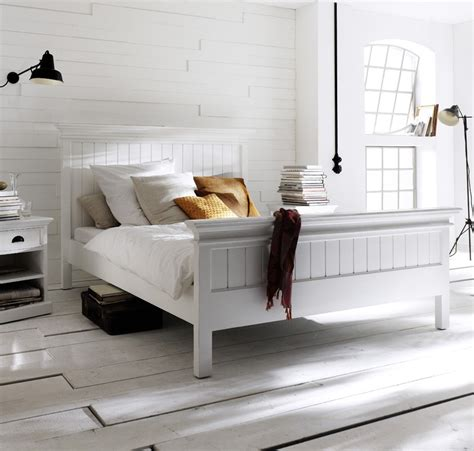 solde canape but lit bois blanc collection leirfjord 160 x 200 lit