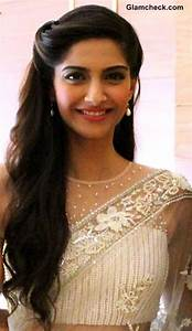 Loving Sonam's hair Simple, but cute Do for Chirag's engagement party if my hair is long