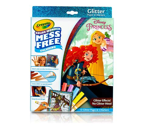 Color Wonder Mess Free Glitter Paper & Markers Box Set