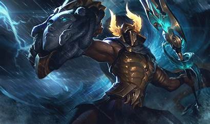League Legends Pantheon Artstation Lol Splash Perseus