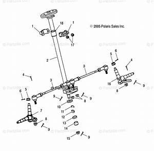 Polaris Atv 2005 Oem Parts Diagram For Steering   Cb