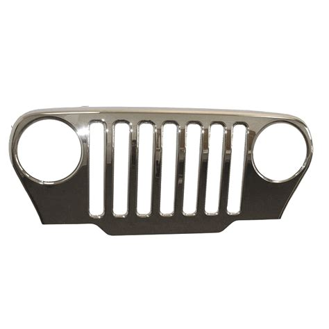 jeep jk grill logo all things jeep chrome grille overlay by omix ada for