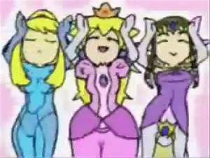 Caramelldansen Samus, Peach, and Zelda - YouTube
