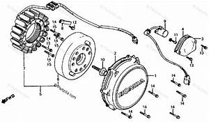 Honda Motorcycle 1986 Oem Parts Diagram For Alternator