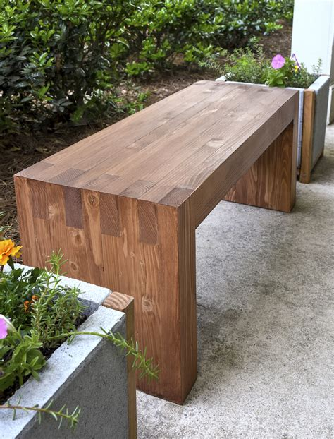 build a bench diy how to make outdoor bench corner