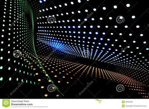 abstract of the lot of led lights stock photography