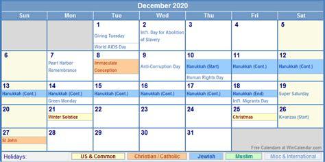 december calendar holidays printing image format