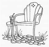 Chair Patio Clipart Chairs Stamps Coloring Garden Clip Drawing Digital Pages Cross Embroidery Outside Digi Lawn Stitch July Cartwheeling Through sketch template