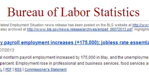 bureau of labor statistics careers invest made easy for malaysian only employment statistics for may 2013 released by the us