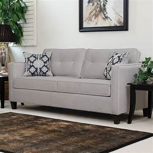 Serta upholstery elizabeth queen sleeper sofa ebay for Sectional couch with queen sleeper