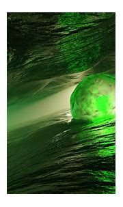 3D Green Sphere Water HD Abstract Wallpapers | HD ...