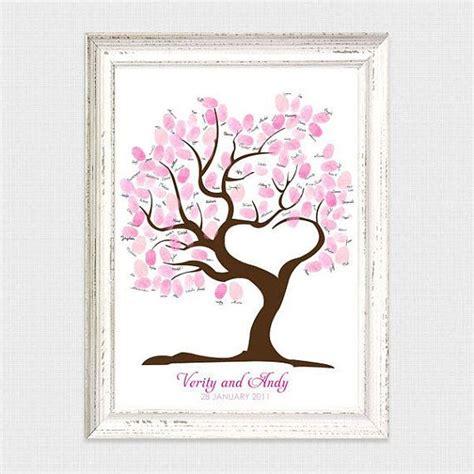tree  love fingerprint guest book printable wedding